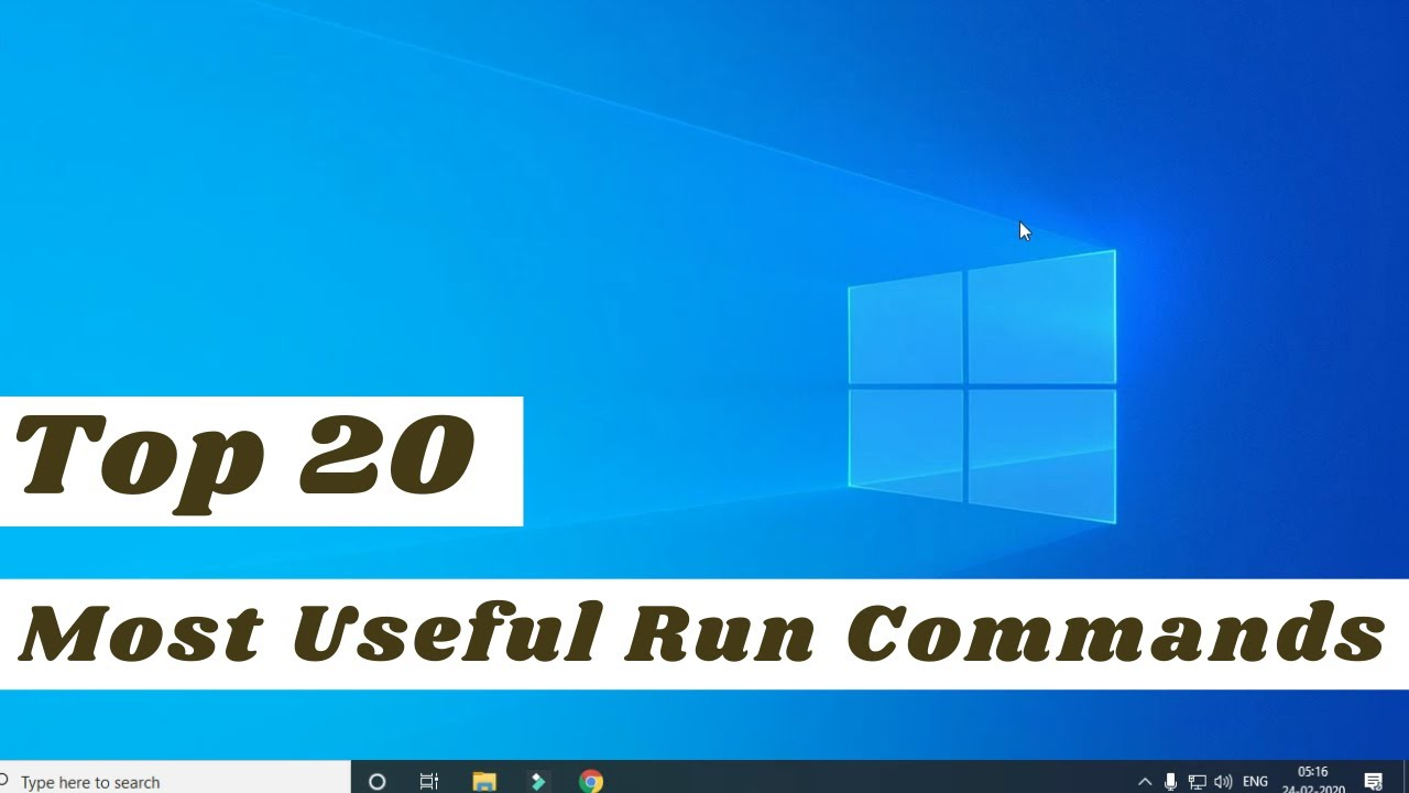 Top 20 most useful Run Commands for Windows   Best Run Commands for Windows   IT Guy