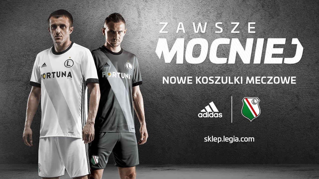 ad0254ac9 Legia Warszawa. #ZawszeMocniej. Nowe koszulki meczowe - YouTube