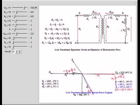 Circuit Phasor    Diagram    for Transformers  YouTube