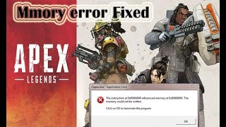 Apex legends Memory eroor fix | memory could not be read... | win 8.1 and win 7