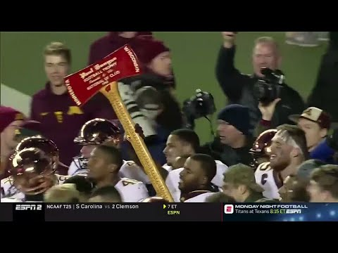End of Game: Gopher Football Wins Paul Bunyan's Axe!