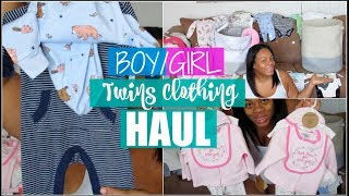 Twins Baby Clothing Haul | 30 Weeks Pregnant | Boy/Girl Twins | Ft. My Family