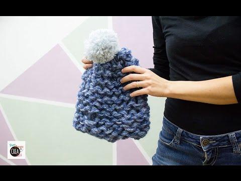Maglia con le mani  come fare un cappello - YouTube d5f6488b0e93