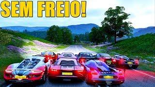 LADEIRA SEM FREIO - FORZA HORIZON 4 ONLINE - GAMEPLAY