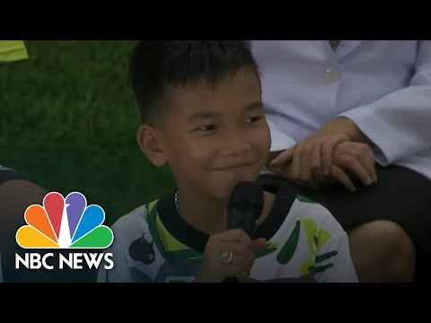 Thai Soccer Boys Speak Out After Dramatic Rescue From Flooded Cave  NBC News