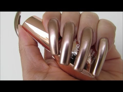 💛 Mirror Nail Polish Effect 💎 Santee Swatches 😍 - YouTube
