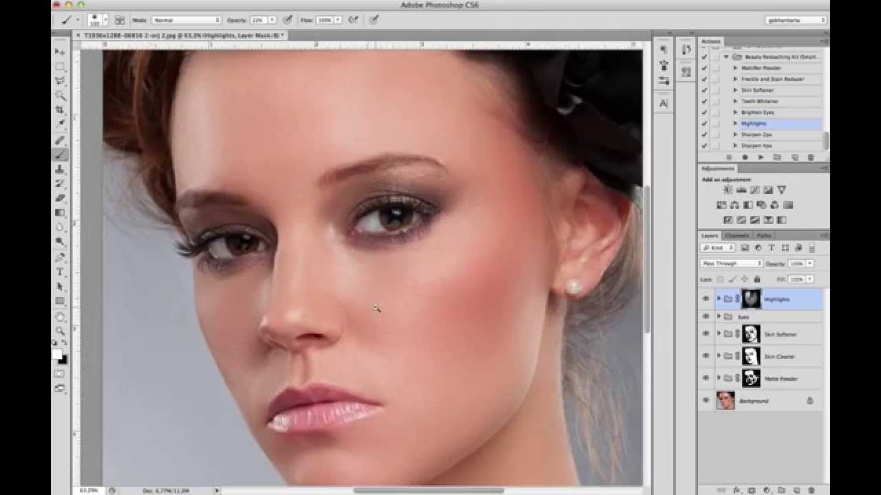 Beauty Retouching Kit v10  Photoshop Tutorial in just 5