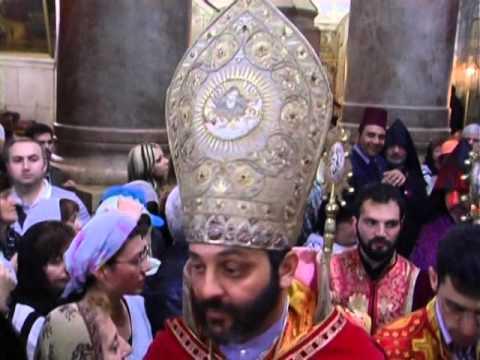 Armenian Church Easter Service In Jerusalem 2012 Part 2 Of 4