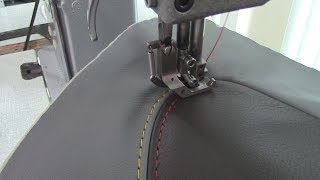 French Seams with a Double Needle Sewing Machine - Car Upholstery