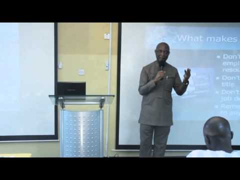 Prof Chris Ogbechie - Positioning For Career Excellence