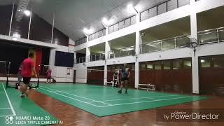 Badminton double sparring