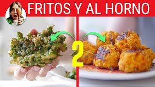 BUÑUELOS DE VERDURAS FRITOS Y AL HORNO - de espinaca y de zanahoria