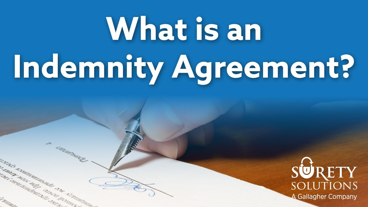 What Is An Indemnity Agreement With Examples