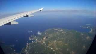 Approach and Landing at Corfu (CFU/LFKR) Germanwings A319