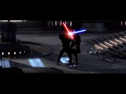 Anakin and Obi-Wan vs Dooku, but every time their blades clash, Palpatine says Do It