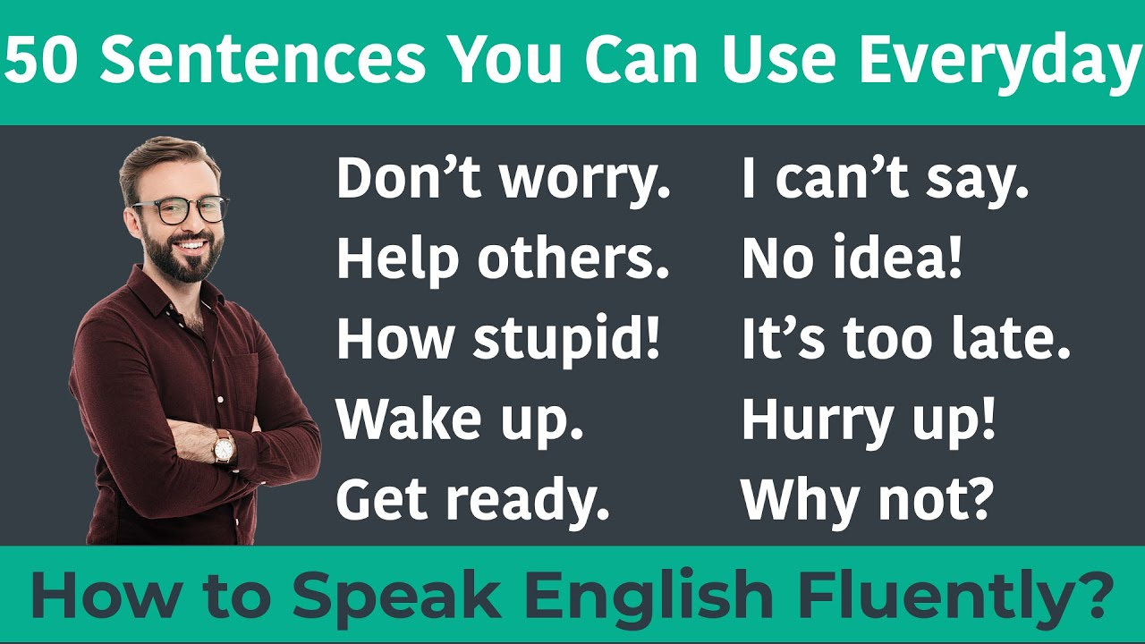50 Sentences You Can Use Everyday || Daily use Sentences for beginners || English Speaking Practice