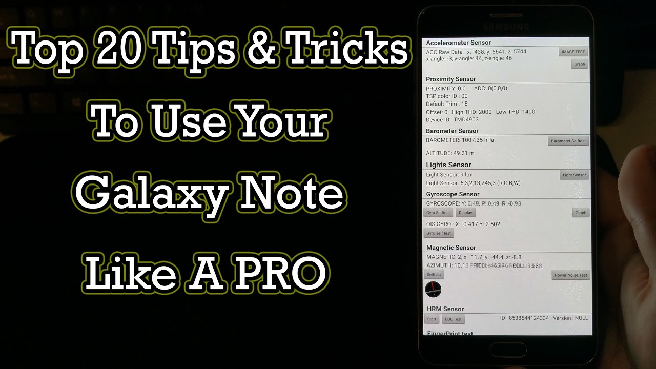 Top 20 tips amp tricks to use your galaxy note like a pro youtube