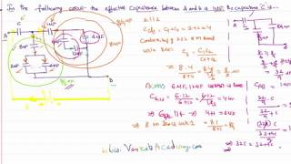 Determining capacity of capacitor when total capacity of circuit is given Problem with Solution