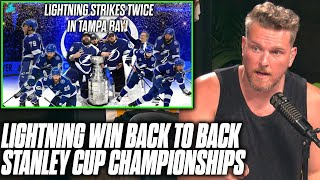Pat McAfee Reacts To The Tampa Bay Lightning Winning The Stanley Cup Back To Back