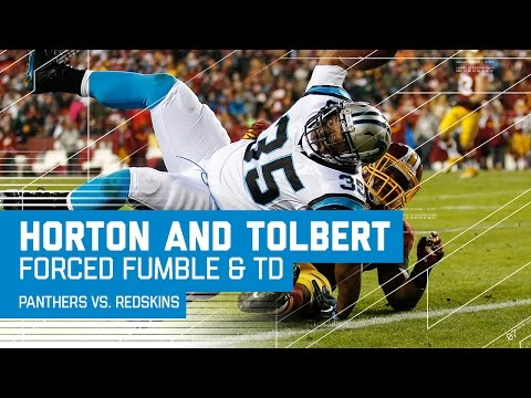 Horton Forces Cousins Fumble, Sets Up Tolbert TD | Panthers vs. Redskins | NFL Week 15 Highlights