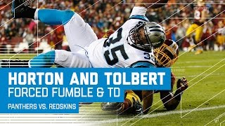 Horton Forces Cousins Fumble, Sets Up Tolbert TD | Panthers vs. Redskins | NFL Week 15 Highlights
