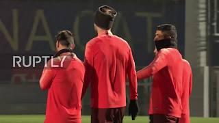 Spain: Barca and Spurs train ahead of crunch Champions League clash