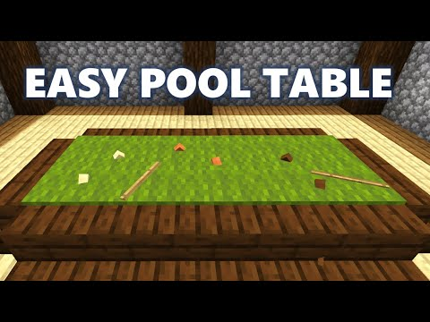 How To Build A Pool Table With Balls - Minecraft