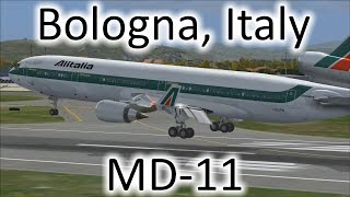 FSX | Alitalia MD-11 Landing at Bologna, Italy (LIPE) (Multiple Views)
