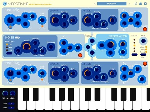 Mersenne Melodic Percussion Synthesizer, Demo for the iPad