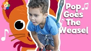 Pop Goes the Weasel Song! Liam Pretend Play Nursery Rhymes Toddler Songs on Tablet