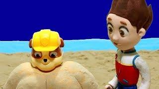 Rubble paw patrol clay cartoon 💕Superhero Play Doh Stop motion