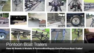 New & Used Pontoon Boat Trailers For Sale W/ Parts Like Guides & Tires From Bunk Or Scissor Models