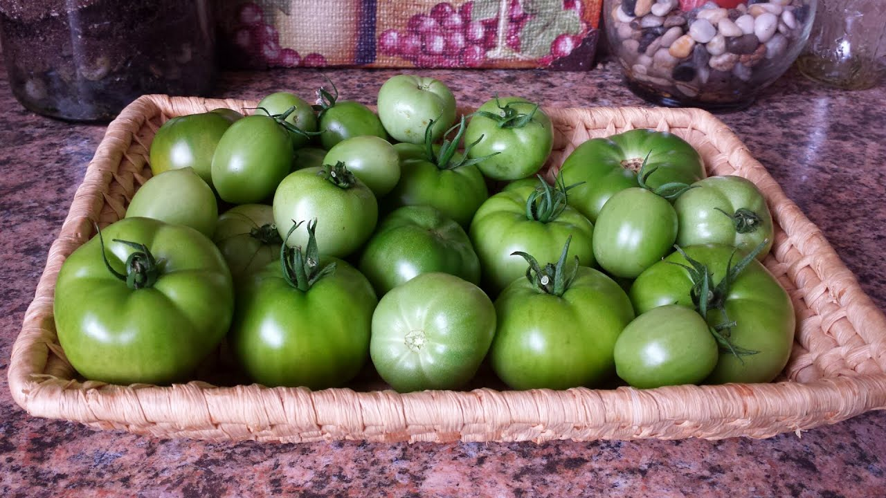 how to ripen green tomatoes indoors youtube. Black Bedroom Furniture Sets. Home Design Ideas