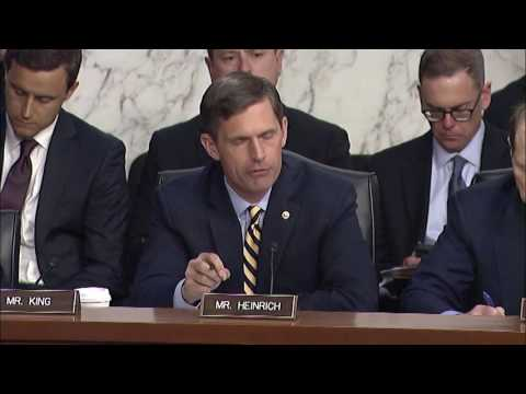 Heinrich Questions Former FBI Director James Comey In Senate Intel Committee Hearing