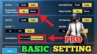 Pubg Basic  Pro Settings 2020 pubg Mobile Season 13  Pubg Tamil Tips An Tricks
