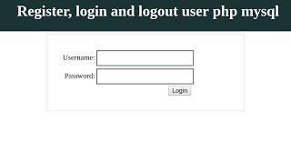 Login user PHP with MySQL 2