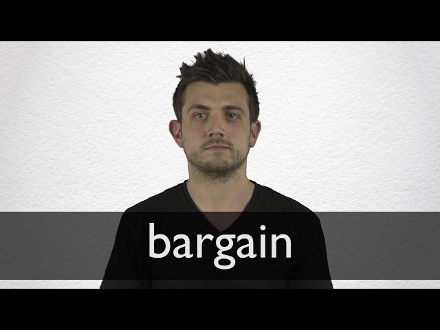 Bargain Synonyms | Collins English Thesaurus