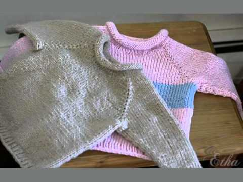 Hoodie Knitting Pattern For Babies And Toddlers : Easy Baby Sweater Knitting Patterns Free - YouTube