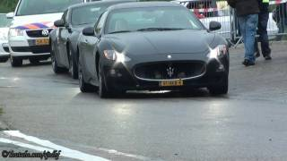 (HD) Maserati GranTurismo S: VERY LOUD SOUNDS: Accelerations, Rev's, Hard Drive-By's etc.