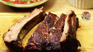 Свиные рёбрышки в духовке + сальса. Просто! Вкусно! Недорого!.