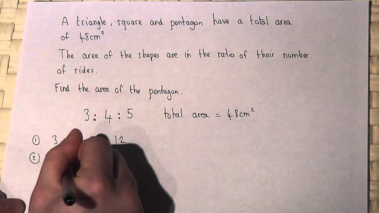 Ratio : Solving simple word problems involving ratio and shape and ...