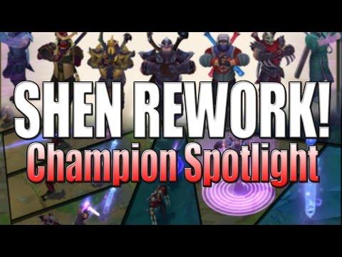 Shen Rework Spotlight - New Abilities Gameplay - League of Legends