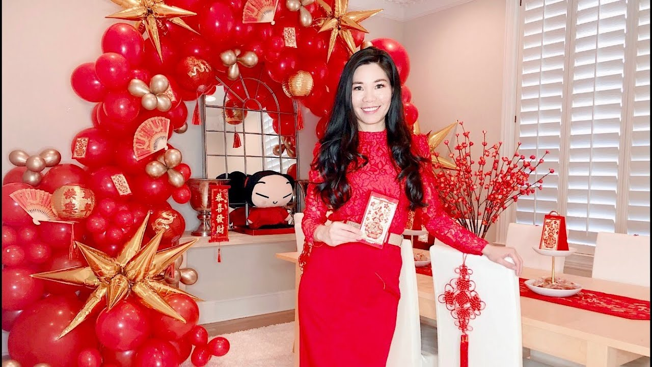 DIY Chinese New Years Decorations & Balloon Arch