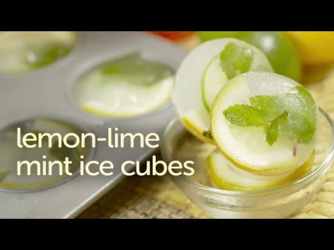 Easy Lemon-Lime Mint Ice Cubes