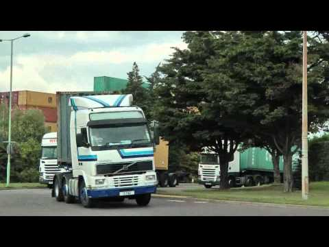 TRUCKS AT FELIXSTOWE PORT JULY 2011 Part Two