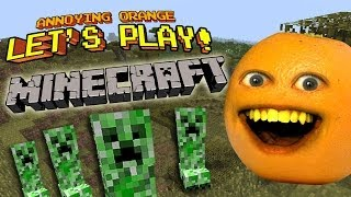 Repeat youtube video Annoying Orange Let's Play! - MINECRAFT