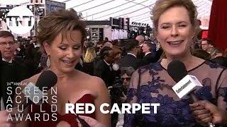 Wonder Woman Wins Best Stunts: Red Carpet Interview | 24th Annual SAG Awards | TNT