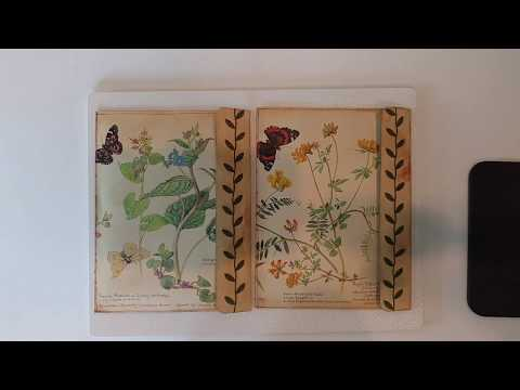 Special Order for Penny - Edith Holden Pressed Flower Journal Pages With Decorative Envelopes