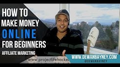 How To Make Money Online For Beginners (Affiliate Marketing) - In PLAIN ENGLISH!