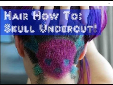 Skull Undercut Buzzcut Hairstyle Goth Hair How To Tutorial Patterned Design Shaved Under Cut Youtube